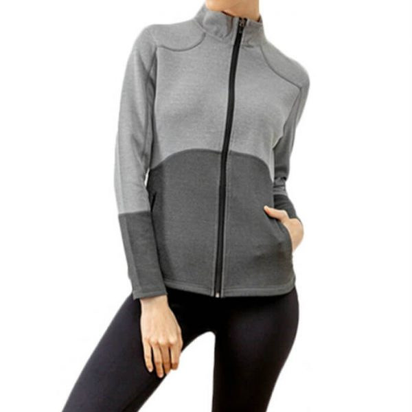 Color Block Women Workout Jacket Manufacturer