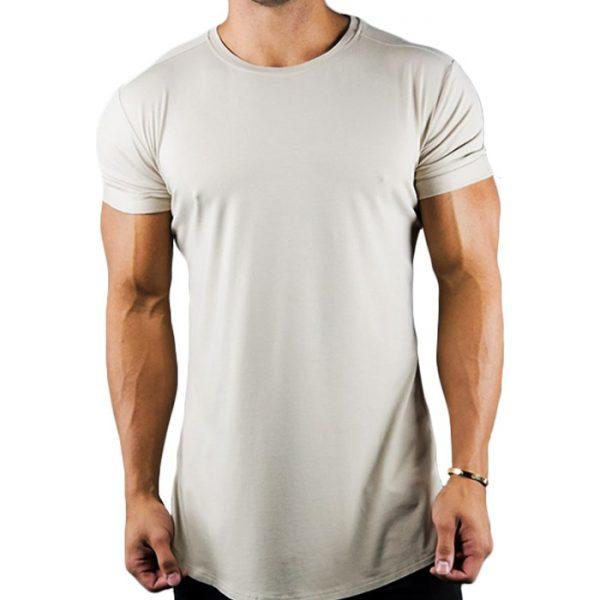Cotton Body Building Plain Tshirt With Elastane Manufacturer