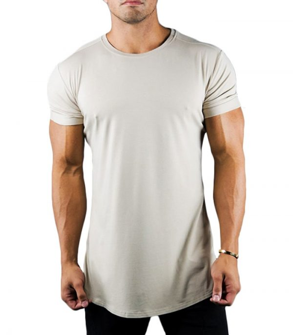 Cotton Body Building Plain Tshirt With Elastane Manufacturer