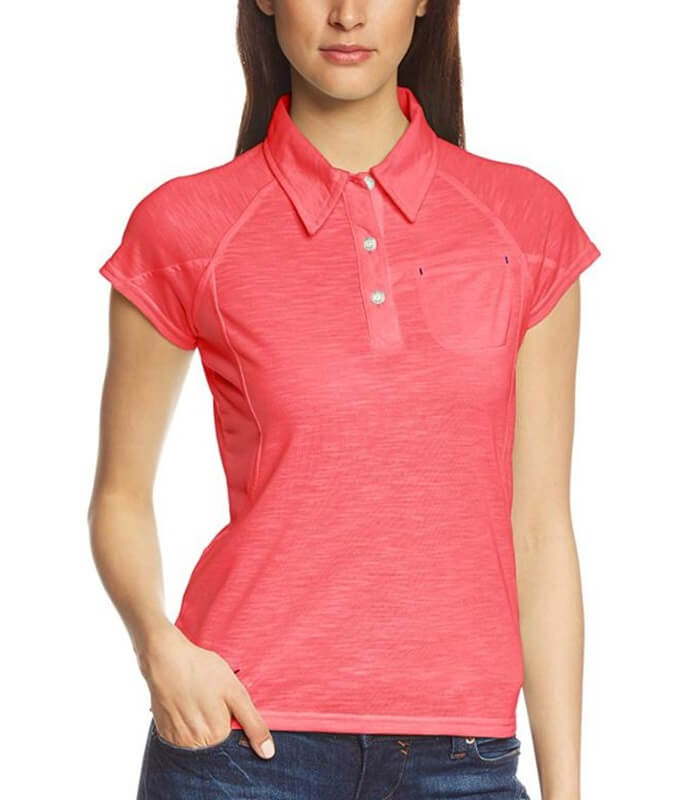 Custom Slim Fit Women Polo Tshirt Manufacturer