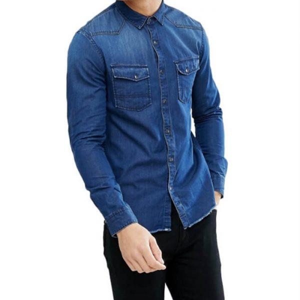Fashion Custom Men Denim Shirts