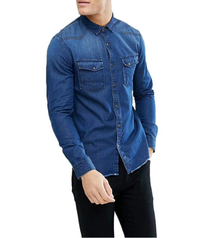 Fashion Custom Men Denim Shirts