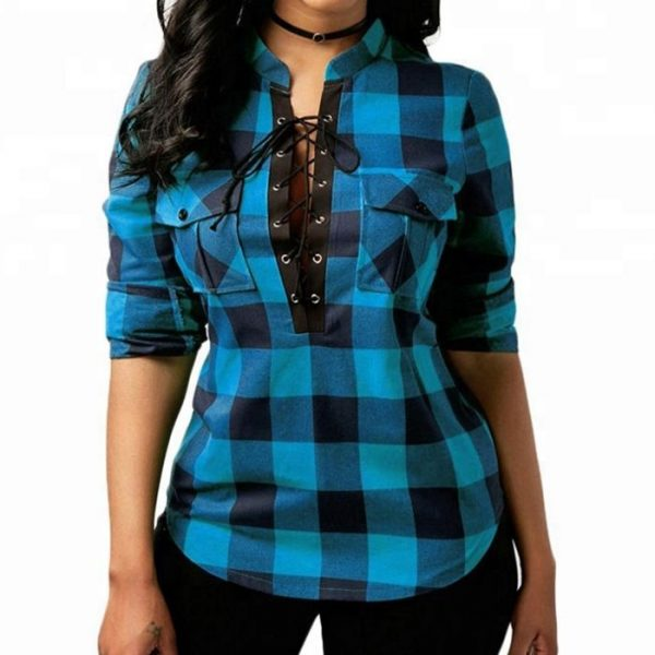 Fashion Sexy Woman Cotton Shirt Manufacturer