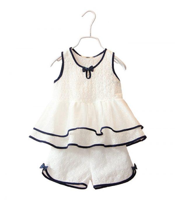Girls Sleeveless Skirt With Shorts Manufacturer