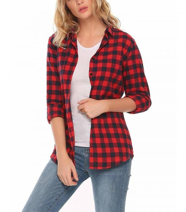Womens Casual Button Down Flannel Shirt Manufacturer