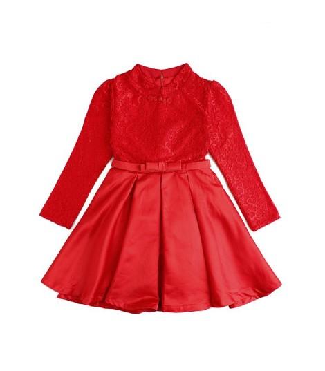 Autumn Winter Red Cheongsam Kids Dresses Usa Clothing