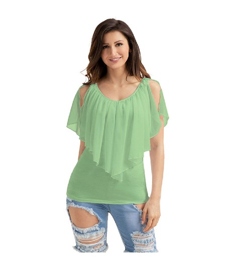 Short Sleeve Loose Casual Plain Women Sexy Tops Usa