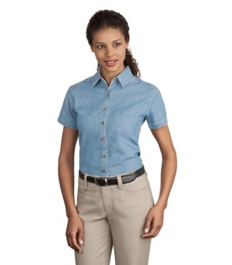 fitted denim shirt womens manufacturers