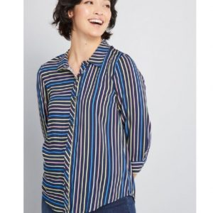 lady striped t shirt