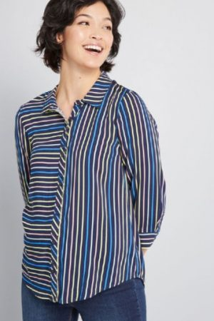 lady striped t shirt