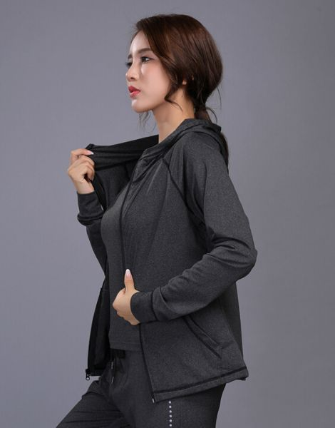 custom women dr-fit sports jacket with zipper manufacturers