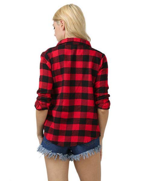 custom women plaid flannel cocoon shirt