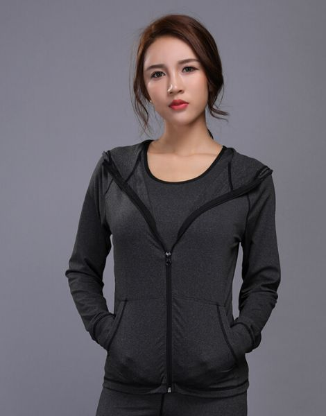 bulk women dr-fit sports jacket with zipper