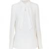 wholesale white long sleeve elegant office top