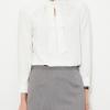 bulk white long sleeve elegant office top