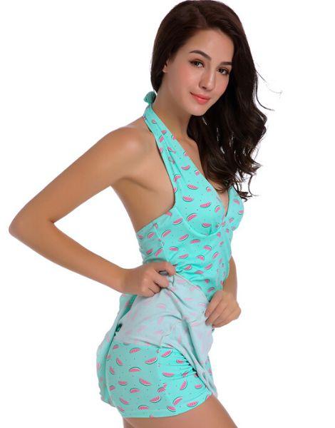 custom watermelon printed swimwear manufacturers