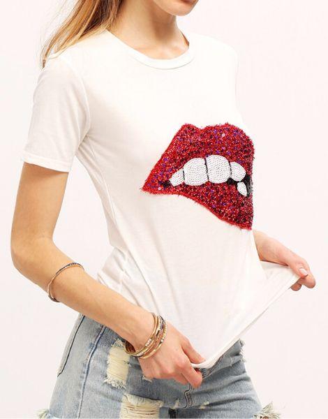 bulk lip print t-shirt
