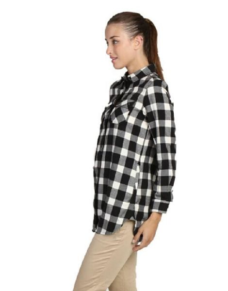wholesale bulk double pocket flannel shirts for women