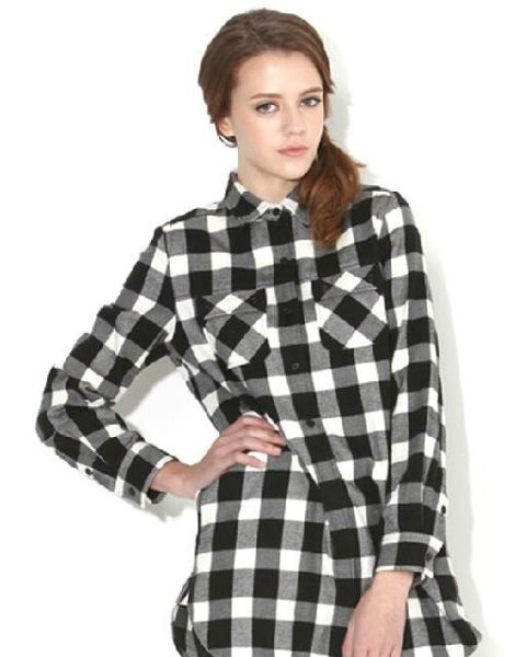 bulk double pocket flannel shirts for women