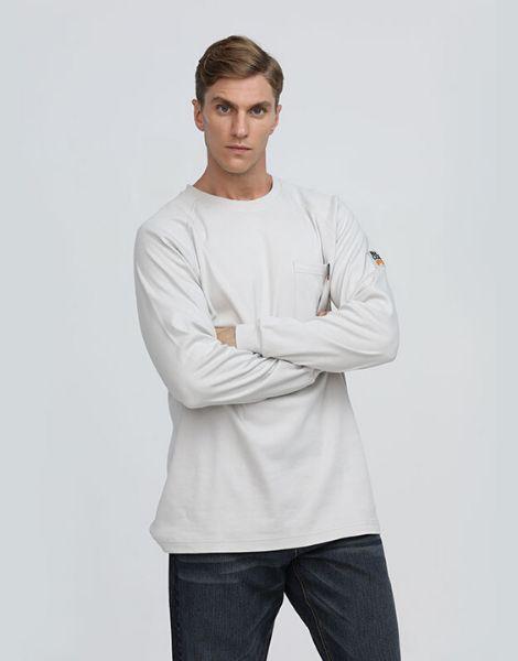 wholesale bulk flame resistant full sleeve t shirt