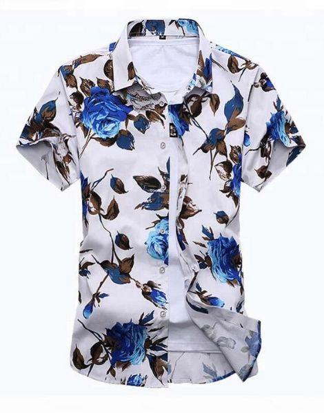 wholesale bulk flowers printed short sleeve shirts