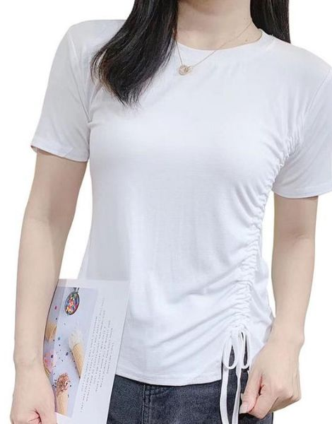 wholesale bulk o-neck cotton ladies t-shirt