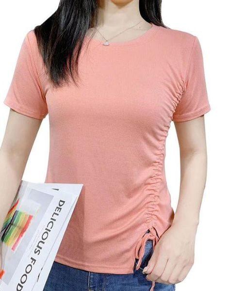 wholesale o-neck cotton ladies t-shirt manufacturers