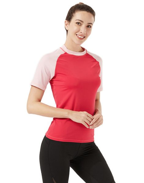 wholesale bulk breathable duel color t-shirts for women