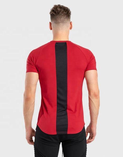 custom back stiped workout t-shirts for men