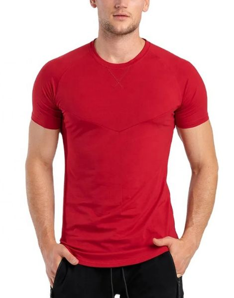 custom back stiped workout t-shirts for men manufacturers