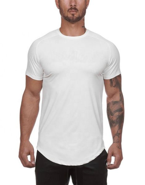 wholesale Bottom Shaped Men's Workout T-shirts manufacturers