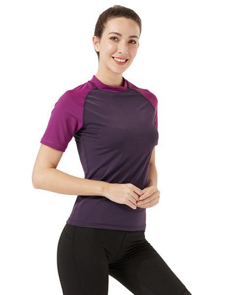 wholesale breathable duel color t-shirts for women