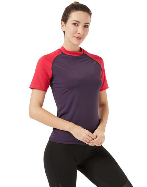 bulk breathable duel color t-shirts for women