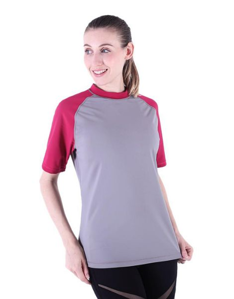 custom breathable duel color t-shirts for women