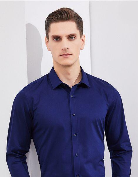 custom men single color formal shirts manufacturers