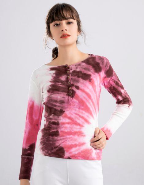 wholesale bulk colorful tie-dye full sleeve shirts