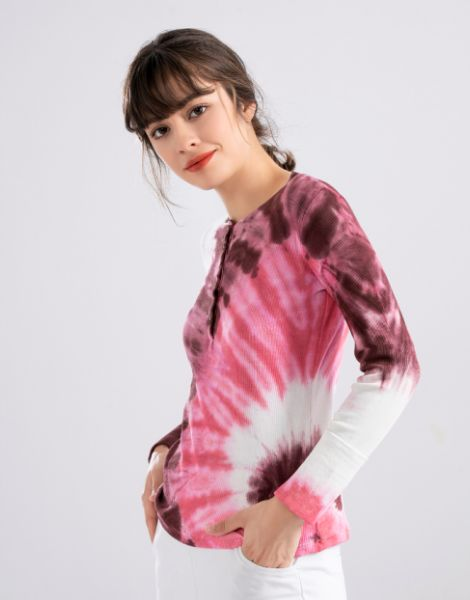 custom colorful tie-dye full sleeve shirts manufacturers