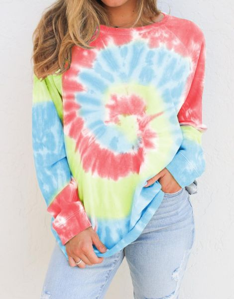 bulk tie and dye women sweatshirt