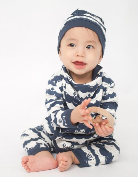 bulk sea stripe baby rompers clothes