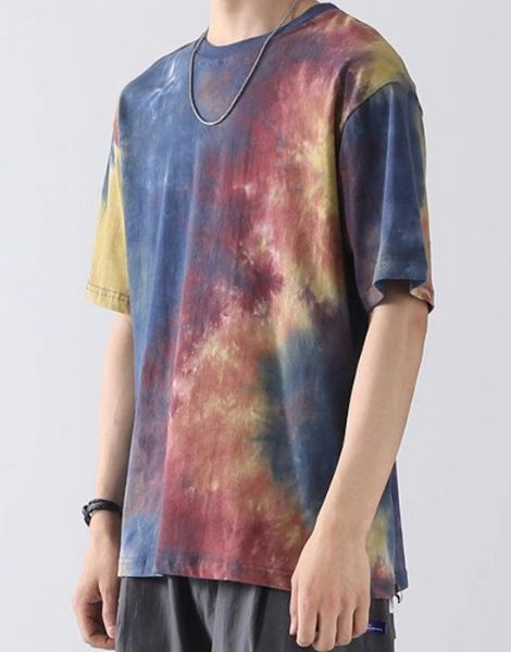 wholesale short sleeve tie-dye men t-shirt