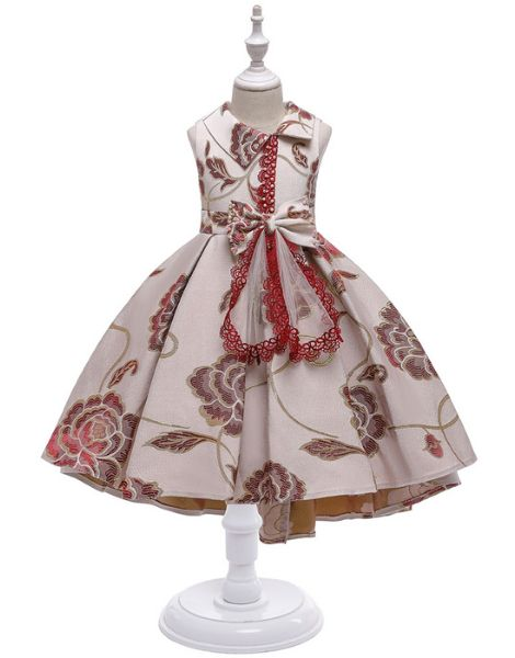 wholesale embroided designed little girls dress