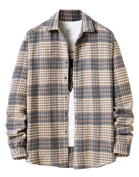 custom long sleeve plaid men flannel shirts
