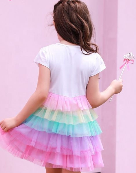 wholesale 3D printed polyester little girl dress manufacturers
