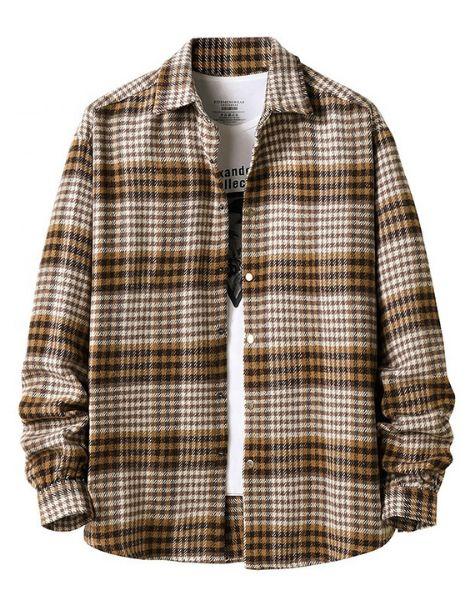 wholesale long sleeve plaid men flannel shirts manufacturers