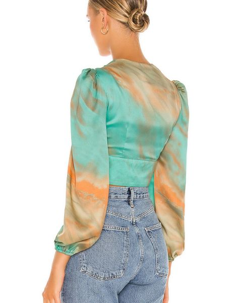 wholesale bulk long sleeve printed buttons crop top