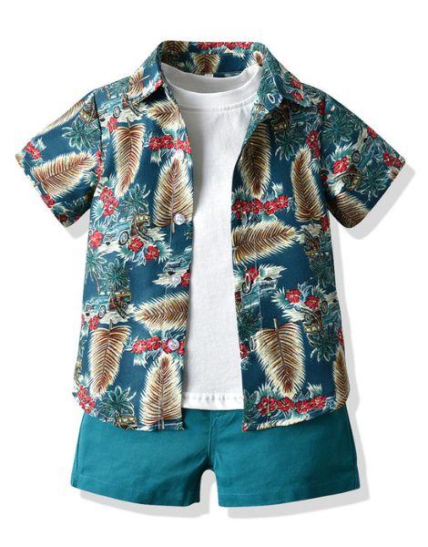 wholesale 3 piece little boy boutique clothing set