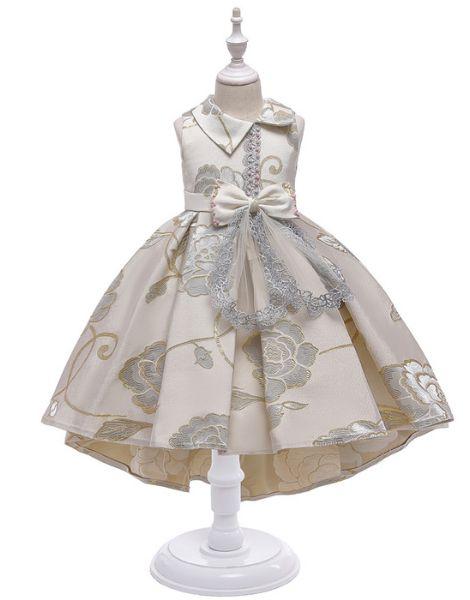 bulk embroided designed little girls dress