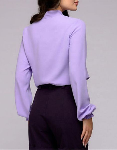 custom long sleeve chiffon womens shirt