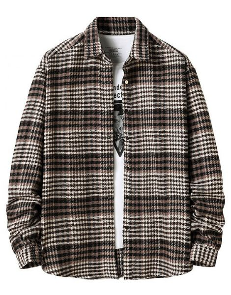 bulk long sleeve plaid men flannel shirts