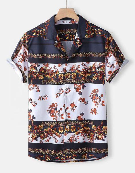 bulk printed colorful mens shirt